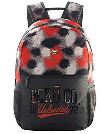 Ecko Mochila de Costas G - Cinza e Vermelha com Detalhes - Ecko Unlimited