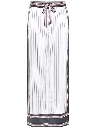 Kate Moss for Equipment Avery striped silk trousers