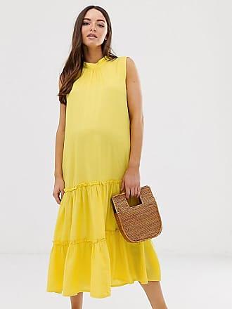 17cf5df9e3812 Mama Licious Mamalicious maternity sleeveless tiered maxi dress in yellow