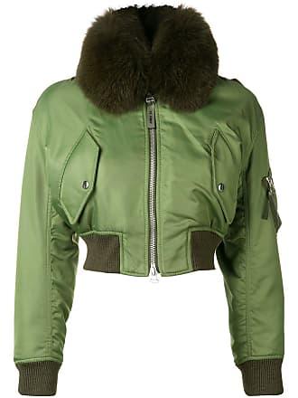 Yves Salomon - Army short bomber jacket - Green