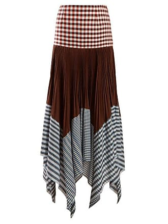 74ced0f52aa Loewe Asymmetric Pleated Gingham Handkerchief Skirt - Womens - Multi