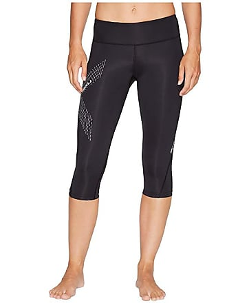 2XU Mid-Rise Compression 3/4 Tights (Black/Dotted Reflective Logo) Womens Workout