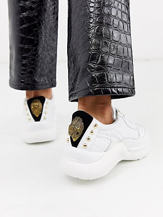 Kurt Geiger Lunar - Weiße Sneaker mit Adler-Motiv