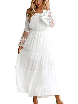 Kleid lang weib mit spitze