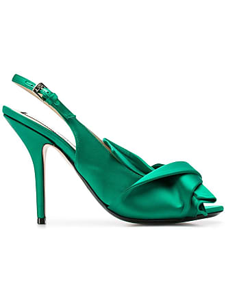 N°21 knot-detail slingback pumps - Green