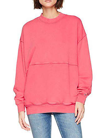 Tommy Jeans Damen Oversized Washed Langarmshirt Rosa (Spiced Coral 689) X -Large 38aedf119b