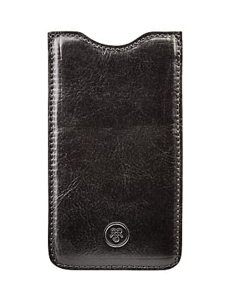 Maxwell Scott Maxwell Scott - Luxury Black Leather iPhone Seven Plus Phone Case