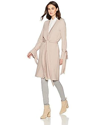 J.O.A. JOA Womens Tie Sleeve Duster, Taupe, Small