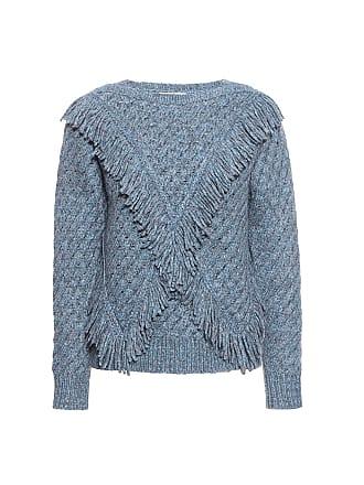 Rebecca Taylor Fringe Sweater Glacier