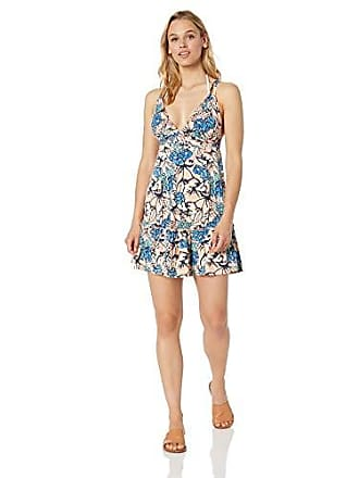da1391e48d Maaji Womens Printed with Adjustable Straps and Ruffle Hem Cover Up Dress,  Golden Hour Blue