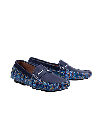 Robert Graham Mens Haggard Loafer In Navy Size: 10.5 by Robert Graham