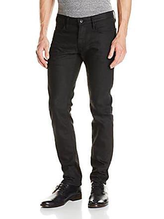 John Varvatos Star USA Mens Bowery Fit V Stitch Pocket Jeans, Jet Black, 31 Regular