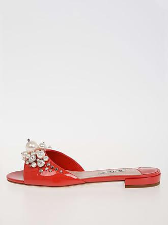 0fe737ff2 Miu Miu Jewel Leather Slipper size 36