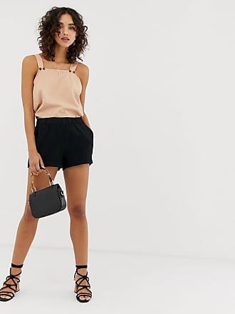 Vero Moda culotte shorts in black - Black