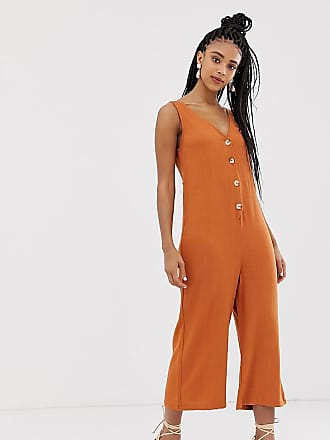 ced24b50d3 New Look jumpsuit with button front in rust