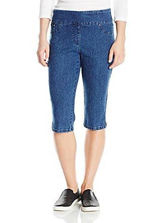 Ruby Rd. Womens Plus-Size Pull-on Extra Stretch Denim Clamdigger, Indigo 18W