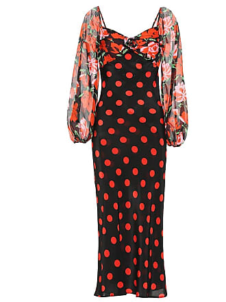 Rixo Josephine polka-dot silk dress
