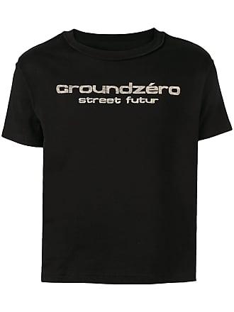 Ground-Zero logo print T-shirt - Preto
