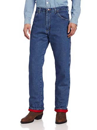 Wrangler Mens Big-Tall Rugged Wear Woodland Thermal Night Stonewash Red Jean, Stonewashed Denim, 56x30