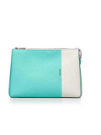 68354c6ec8f Tiffany   Co. Color Block cosmetic case in off-white and Tiffany Blue grain