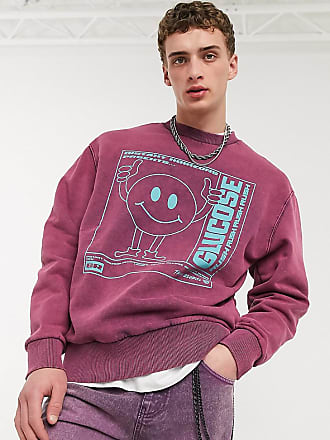 Collusion sweatshirt with glucose print in washed purple