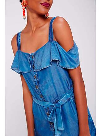 Damyller Macacão Jeans Feminino Tam: M/Cor: BLUE