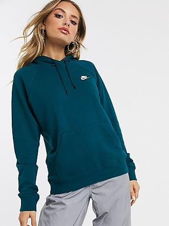 nike mini swoosh oversized green hoodie