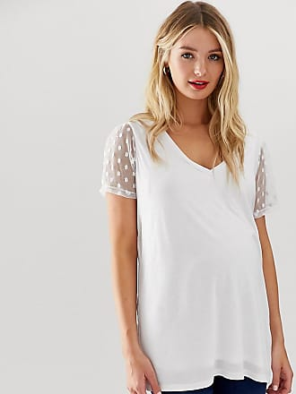 a48dec74654 Asos Maternity ASOS DESIGN Maternity nursing double layer t-shirt with  dobby mesh sleeve in