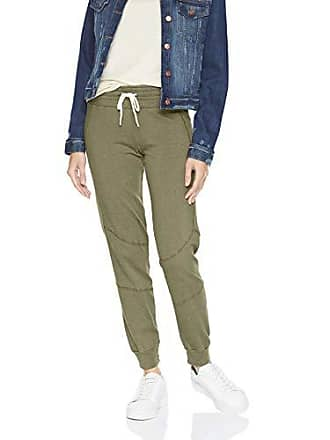 Monrow Womens High Waisted Stitched Moto Sweats, Olive, Extra Small