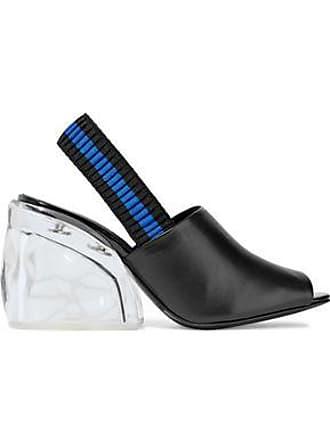 3.1 Phillip Lim 3.1 Phillip Lim Woman Leather And Plexiglas Slingback Mules Black Size 36.5