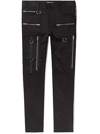 Undercover Skinny-fit Cotton-blend Trousers - Black