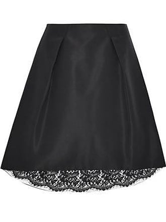 e8924a369b Carolina Herrera Carolina Herrera Woman Pleated Silk-faille Skirt Black  Size 12