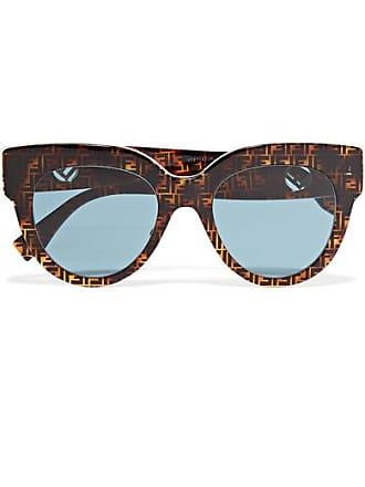 Fendi Oversized Printed D-frame Acetate Sunglasses - Tortoiseshell
