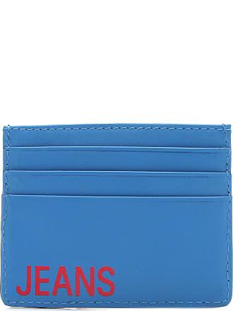 Calvin Klein Porta Cartão Couro Calvin Klein Logo Preta/Azul
