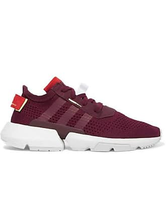 adidas Originals Pod-s3.1 Suede-trimmed Stretch-knit Sneakers - Burgundy