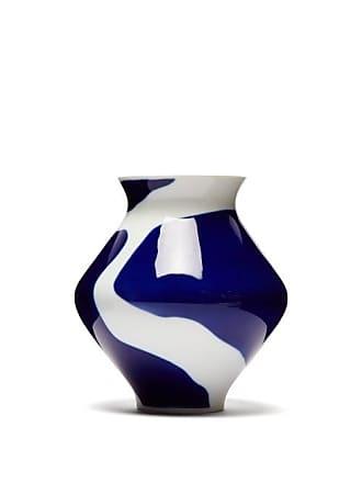 Viso Project X Sargadelos Amboa Porcelain Vase - Blue White