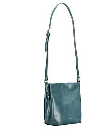 4823f8be9842b Maxwell Scott Leder Bucket Bag Handtasche in Petrol - Schultertasche