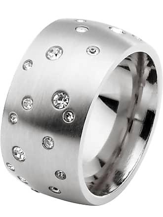 Bonprix Anello in acciaio inossidabile e strass (Argento) - bpc bonprix  collection 88f6ebdd711