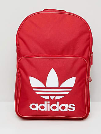559d58a85b5 adidas Originals Large Trefoil Logo Backpack In Red DQ3157