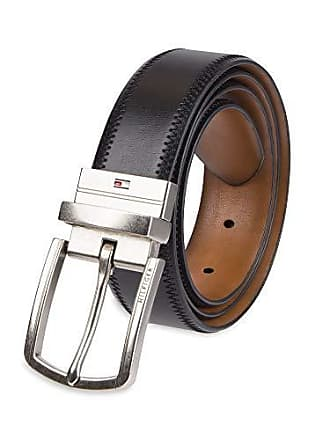 52d4161206fb Tommy Hilfiger Reversible Leather Belt - Casual for Mens Jeans with Double  Sided Strap and Silver