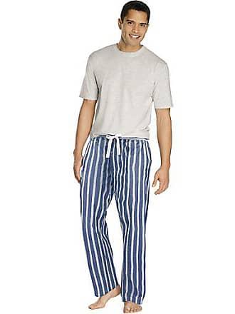 Hanes Mens Sleep Set with Woven Pants Oatmeal Heather 2XL