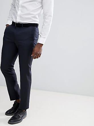Asos wedding 100% wool slim suit pants in navy - Navy
