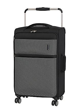 IT Luggage Worlds Lightest Debonair 27.8 8-Wheel Spinner, Black/White