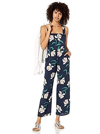 Obey womens Sunset Cropped Romper Jumpsuit,Dark Indigo Multi,31