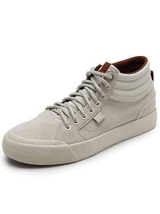8971ebe297595 DC Tênis Couro DC Shoes Evan Hi Le Imp Off White