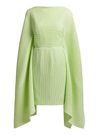 Solace London Chanton Plissé Mini Dress Light Green