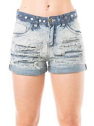 Eventual Short Jeans Feminino Mid Drop Com Aplique Eventual Evt