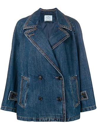 Prada blazer en jean à boutonnière croisée - Bleu 8c189852ae5