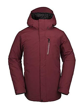 Volcom Mens L Gore-tex 2 Layer Laminate Snow Jacket, Burnt Red, Extra Large