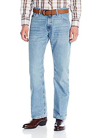 Wrangler Mens 20X Cool Vantage Competition Relaxed Fit Ocean Blue Jean, Ocean Blue, 28x34